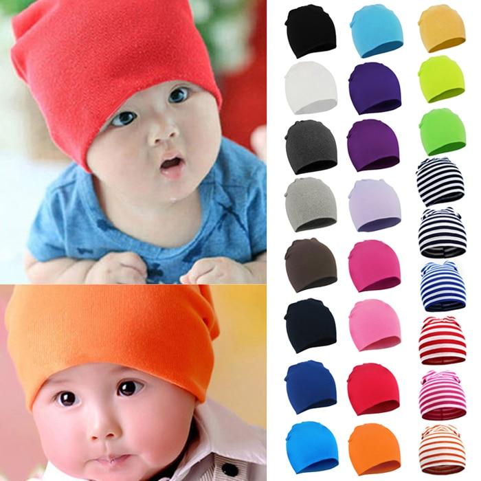 Cute Hat Beanies-Caps Skullies Girls Boys Unisex Cotton Children New Enfant Toddler Soft