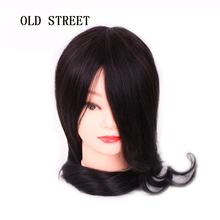 New Star Mixed Hair Training Head For Sale 70% Human Hair Mannequin Head Maniqui Hairdressing Doll Heads Cosmetology Mannequin цены