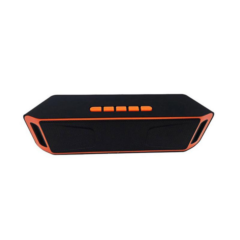 SC208 Wireless Bluetooth Speaker Mobile Phone Hands free Subwoofer Card Double Loudspeaker Fidelity Bluetooth Music Wireless in Portable Speakers from Consumer Electronics