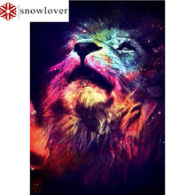 Sonwlover DIY 5D diamond painting full lion furniture decorative painting mosaic cross stitch diamond painting(China)
