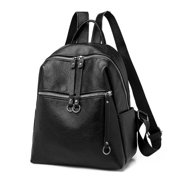 308a5448c03f Fashion Women Backpacks Soft PU Leather Backpack Shoulder Daypack Female  Rucksack Mochilas Mujer Casual School Bag