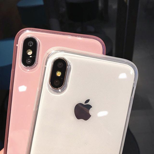 Transparent Shockproof Frame Case For iPhone