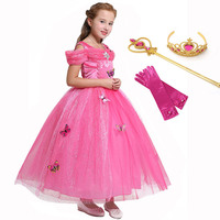 a82f0be09 Pink Party Ball Gown For Child Princess Aurora Sleeping Beauty Clothing  Halloween Birthday Fancy Party Dress. Rosa Vestido De Baile Festa para  Criança ...