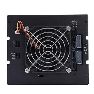 Image 4 - Oimaster 4 Bay Festplatte Gehäuse Rack Daten Lagerung Für 2,5 Zoll/3,5 Zoll Sata Sdd Festplatte Für 5,25 zoll Stick Bay