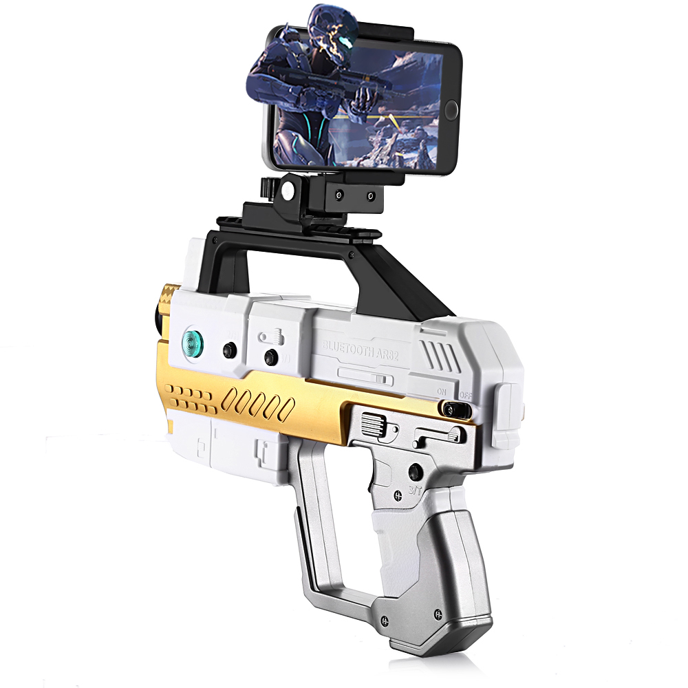 AR Gun Toy Bluetooth 4.2 Game Pistol Gun With Cell Phone Stand Shooting Game Spider Territory APP Connection AR High Tech Toys