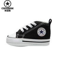 CONVERSE детская обувь серии Classic детские удобные черные парусиновые новорожденных легкая обувь #8J231