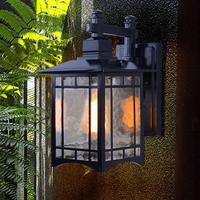 LED wall light outdoor wall lamp waterproof 10W E27 BASE China style buitenlamp for garden courtyard villa balcony veranda park