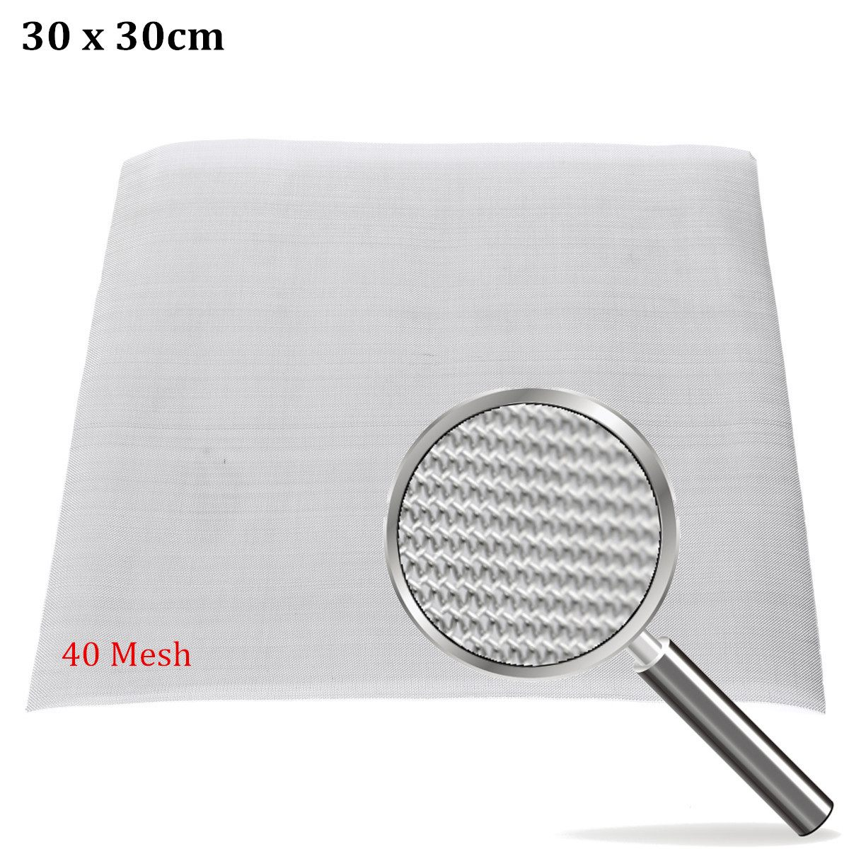 Doersupp NEW 40 Mesh / 425 Micron Stainless Steel Filter Filtration Woven Wire Screen Screen Filter 12