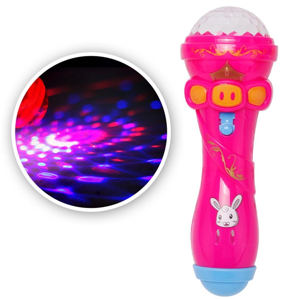 Microphone Model Lighting, Cute Mini Funny Wireless Microphone Shape Music Karaoke Luminous Lighting Toys(Random)