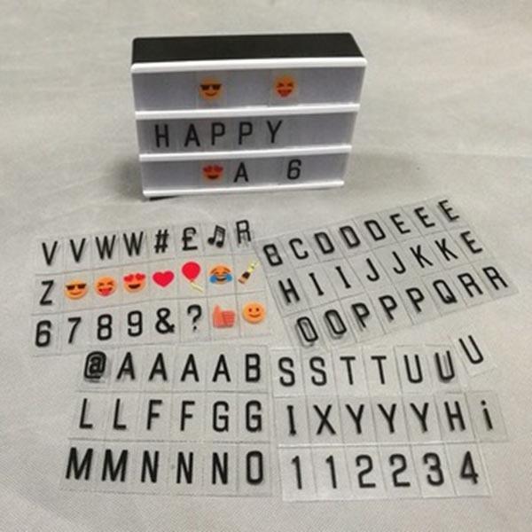 A5 Tamanho Caixa de Combinação LEVOU Luz Noite Lâmpada DIY Letras Cartões USB Alimentado Lightbox Cinema MDJ998