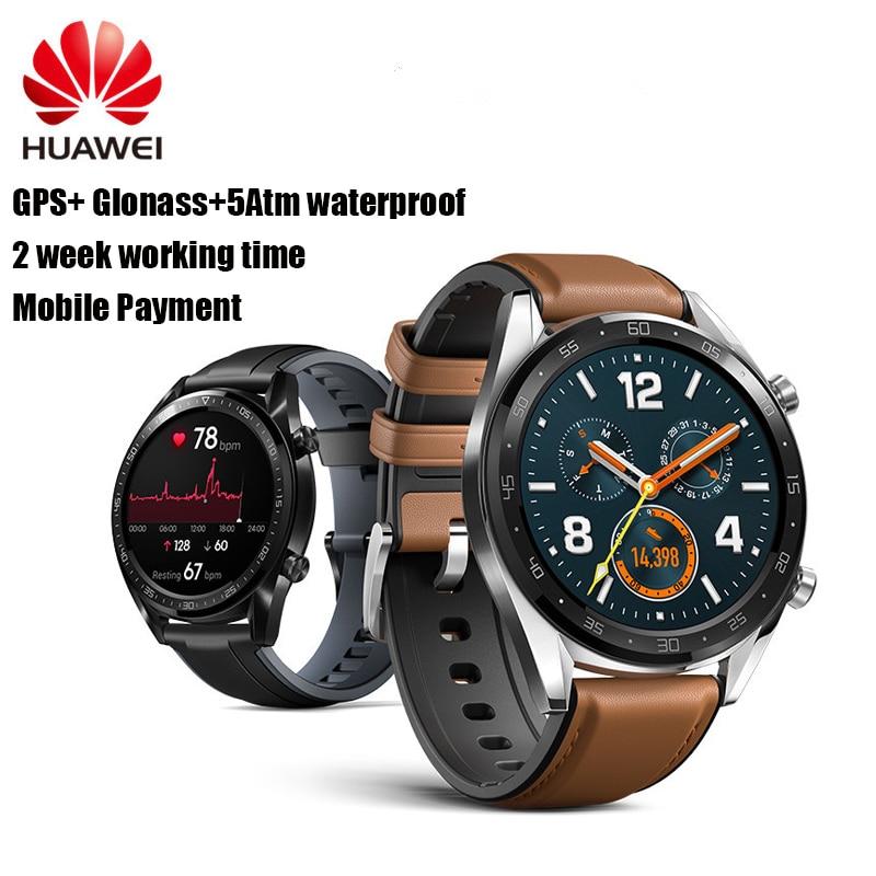 HUAWEI watch GT GPS Smart Watch 1.39'' 5ATM Waterproof Heartrate Report Jogging Cycling Sleep Monitor Mobile Payment Sport Watch