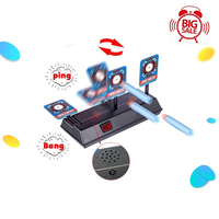 Shooting Target Kids Sound Light Shooting Game High Precision Scoring Auto Reset Electric Gun Target Accessories for Nerf Toys