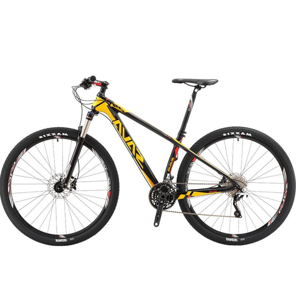 Nouvelle marque VTT 29 pouces roue en Fiber de carbone cadre 30 vitesses lumière vélo de plein air Sport descente huile frein à disque Bicicleta