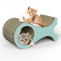 Pet scratcher for cats Cutouts To Hide Toys Corrugated Paper Super Large Whale Cat Claw Board Venting Grabbing Board