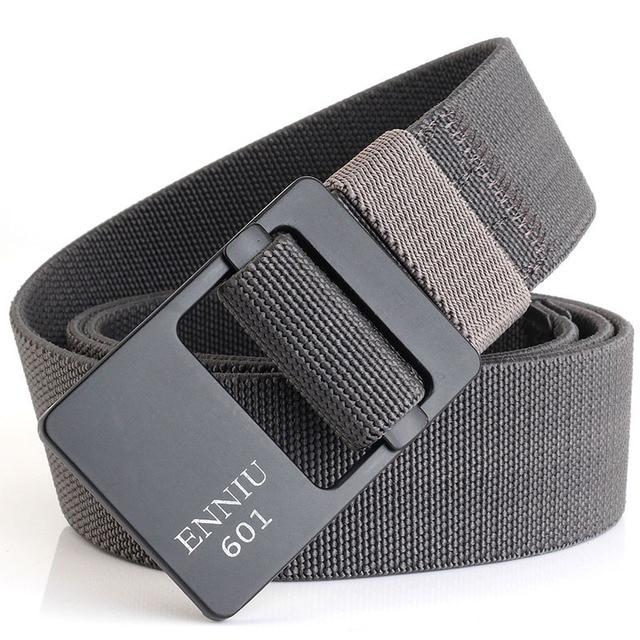Cinturones informales de nailon de lujo para hombres, cinturón táctico militar para exteriores para hombre, cinturón de diseño de moda con hebilla
