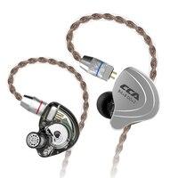 Cca C10 4ba+1dd Hybrid In Ear Earphone Hifi Monito Running Sports Earphone 5 Drive Unit Headset Kz Bluetooth Cable For Cca C10|Earphones & Headphones| |  -