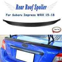 Duckbill стиль Настоящее углеродного волокна задний спойлер багажника крыло для Subaru Impreza WRX 2015 2016 2017 2018