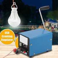 20W USB Hand Crank Generator Manual Emergency Survival Power Supply Outdoor Multifunction Crank Generator Camping Survival