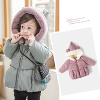 Girl Baby Cotton padded Clothes Winter 2018 New Pattern girl Children 1 3 Year Keep Warm Loose Coat Baby Winter Thickening