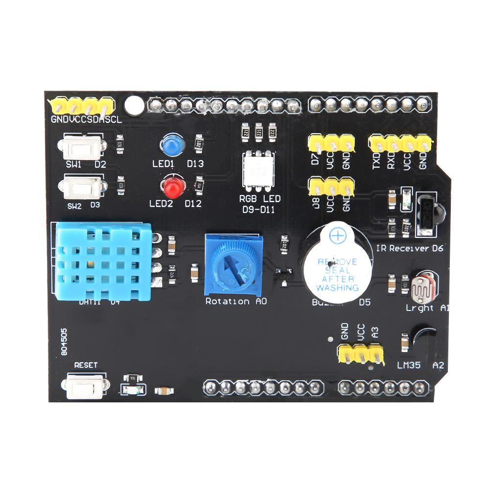 US $8 33 49% OFF|9 in 1 Multifunction Expansion Board DHT11 LM35  Temperature Humidity Sensor Module For UNO Hot-in Motor Driver from Home  Improvement