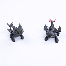 Hot Mini How To Train Your Dragon 3 PVC Toothless Model Toys Night Fury Toothless Cartoon Movie Anime Action Figure Toys For Kid