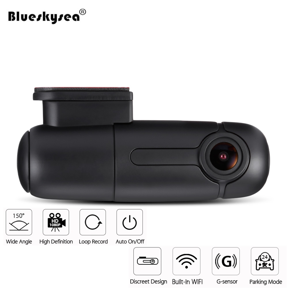 HD 1080P Mini WiFi Car Dash Cam 360 degree Rotate Car DVR Capacitor Parking IMX323 150 degree angle Auto Video Recorder with MIC цена