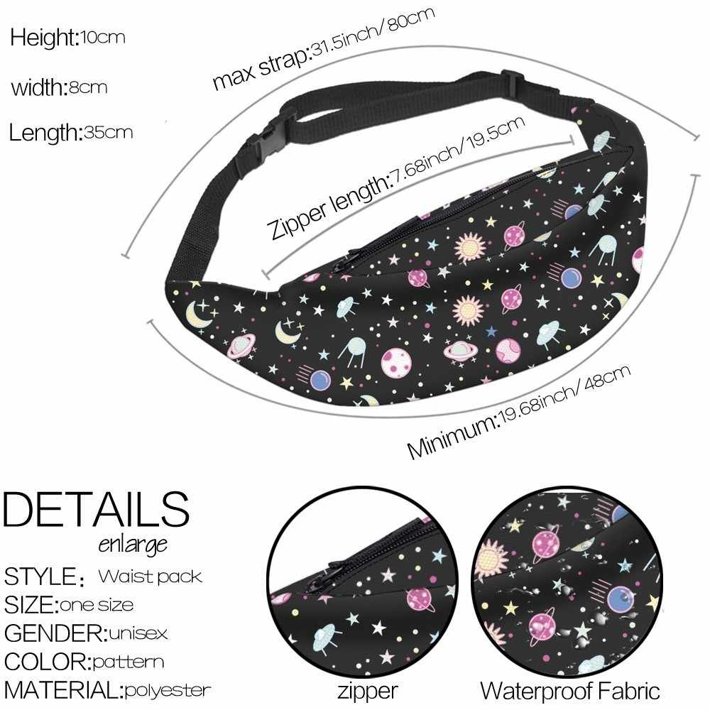 Deanfun Espaço À Prova D' Água Sacos Hip Bum Bloco de Fanny Cintura Bag Belt Bag com Alça Ajustável para As Mulheres YB-37