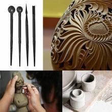 4 шт Керамические полимерные глиняные инструменты резьба кисть для поделок керамика s инструмент Многофункциональный цвет форма Руководство DIY таблетки палочки инструменты