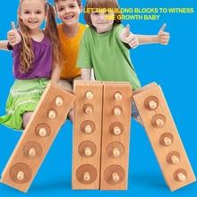Baby Lean Shape Practice Senses Children Educational Toy Set Preschool Smooth Fun Cylinder Socket Blocks Wooden Development Gift