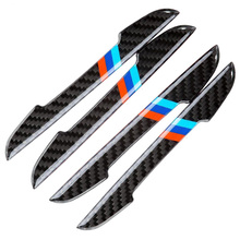 4x Car Side Door Fender Edge Guard Protection Trim Kit For BMW Carbon Fiber Type