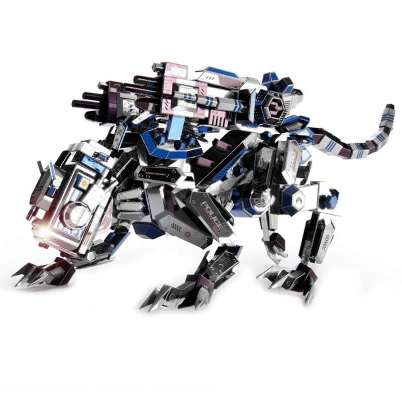 2018 Mechanical Police Dog Model DIY Laser Cutting Jigsaw Puzzle Fighter Model 3D Metal Model Building