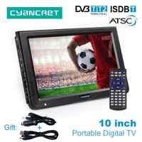 LEADSTAR 10 pouces HD DVB-T2 de télévision Portable ATSC ISDB-T tdt numérique et analogique mini petite voiture Support de télévision USB SD MP4 H.265 AC3