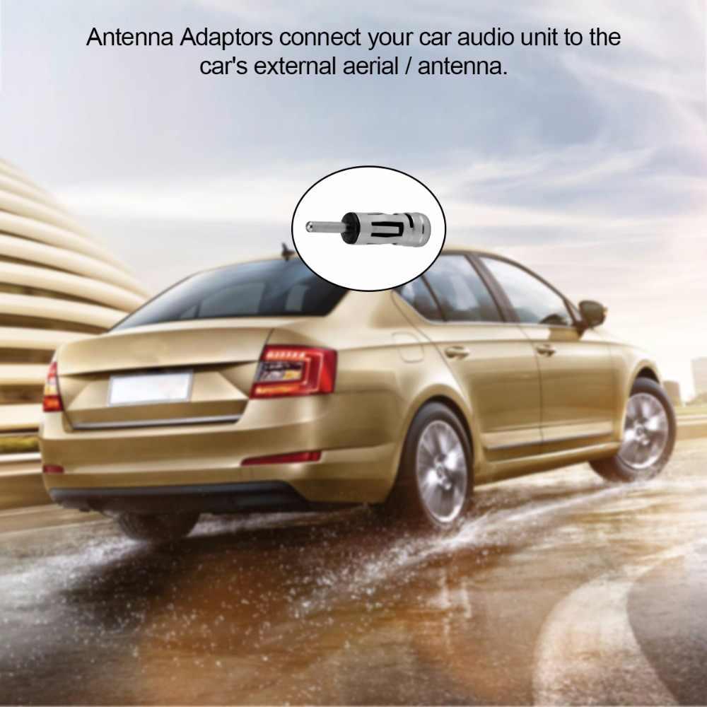 Mobil Radio Stereo ISO untuk DIN Aerial Antena Tiang Adaptor Konektor Plug untuk Kendaraan Radio Adaptor