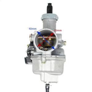 Image 3 - High Quality  pz27 mm Cable Choke Carburetor 125 150 200 250 300cc ATV Quad Go Kart PZ27 Motorcycle Carburetor