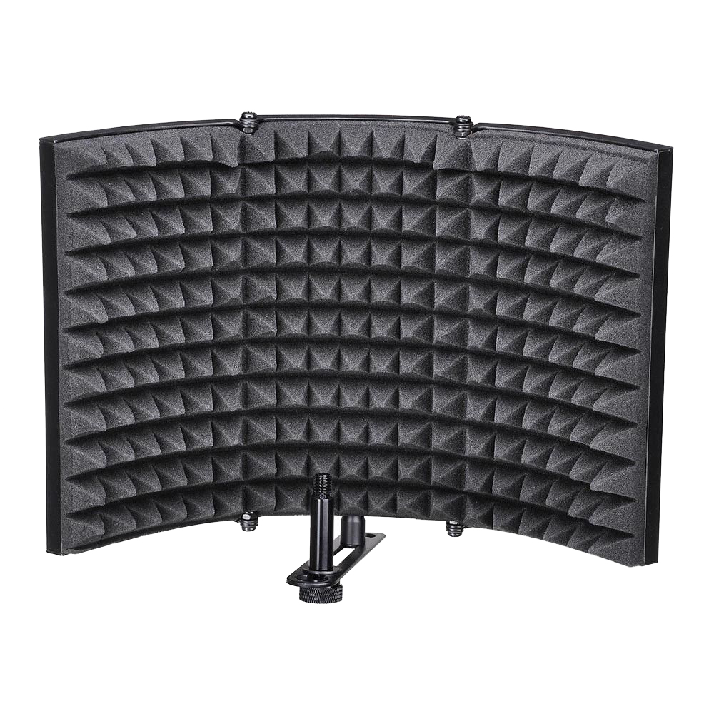 Microphone Isolation Shield, Studio Mic Sound Absorbing Foam Reflector For Any Condenser Microphone Recording Equipment StudioMicrophone Isolation Shield, Studio Mic Sound Absorbing Foam Reflector For Any Condenser Microphone Recording Equipment Studio