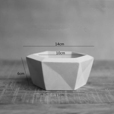 Grand Pot de fleur en béton Silicone moule bricolage en céramique argile bonsaï conteneur moule créatif jardinage Lanscape Pot moules