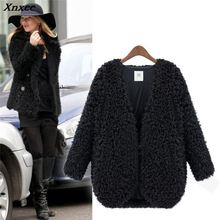 Outwear Faux Lamb Fur Coats Parkas Winter Fur Jackets Women Cardigans Jaqueta Fe