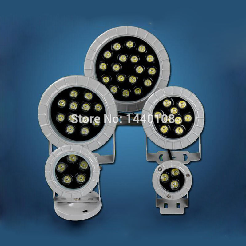 10pcs/lot 12w LED Floodlights IP65 Waterproof Outdoor Garden Yard Lawn Square Cast Light Aluminum Foco LED Exterior Spot Light