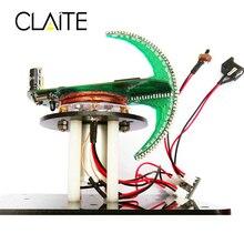 CLAITE Сферический вращающийся светодиодный комплект DIY светодиодный модуль POV пайка тренировочный комплект синий и красный светильник