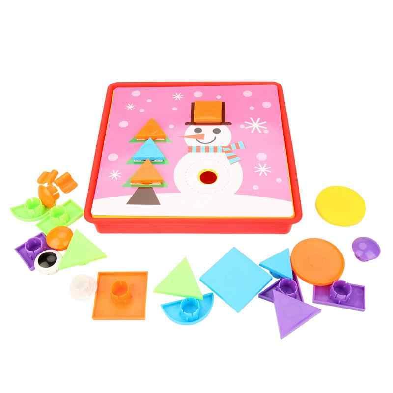 Baru Kreatif Anak-anak 3D Mainan Teka-teki Mosaik Jamur Kuku Kit Teka-teki Gambar Tombol Seni Mainan Pendidikan untuk Anak-anak Anak Hadiah