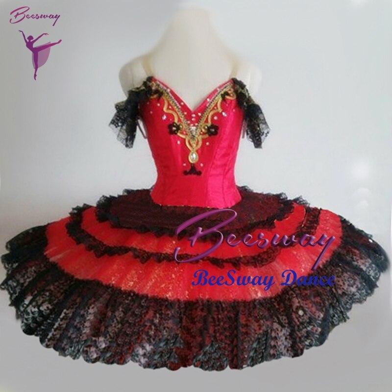 e90c489a0 Vestido tutú de ballet rojo clásico profesional Don Quijote variación  ballet tutus Cisne lago ...