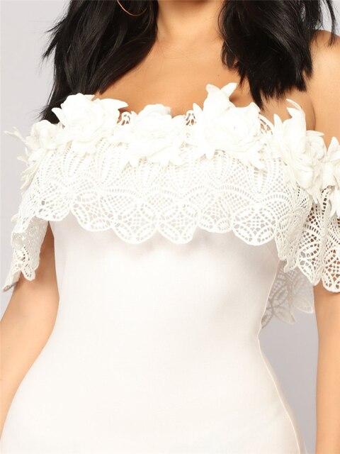 Elegant Off Shoulder Lace Dresses 8