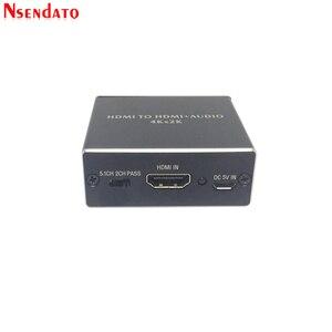 Image 3 - 4K x 2K HDMI ל hdmi + אודיו 3.5mm ממיר סטריאו 5.1 ערוץ אופטי SPDIF אודיו Extractor מתאם ספליטר עבור PS4 HDTV STB מחשב