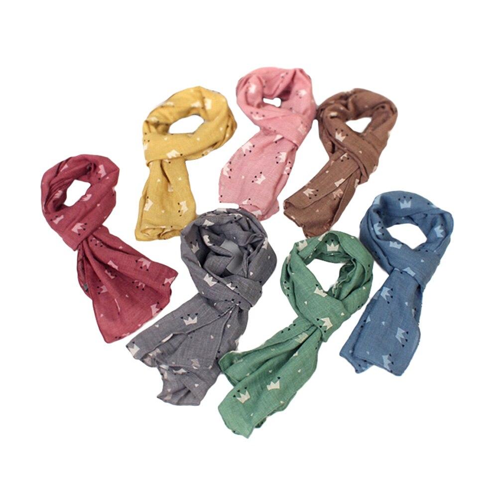 Der GüNstigste Preis 1 Pc Mode Allgleiches Schöne Entzückende Crown Polka Dot Kinder Schal Halstuch Herbst Winter Schal Hals Wärmer