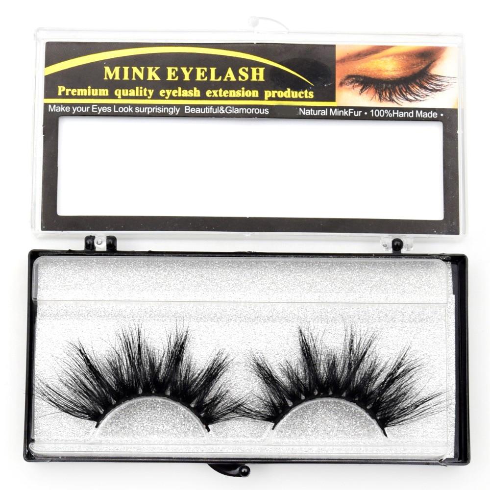 Exaggerated mink hair false eyelashes 3D thick long fake eyelashe stage make up mink eye lashes pack 1 set 1 pair in False Eyelashes from Beauty Health