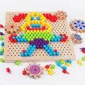 3D Puzzles Spielzeug für Kinder Kreative Mosaik Pilz Nagel Kit Tasten Kunst Montage Kinder Aufklärung Pädagogisches Spielzeug