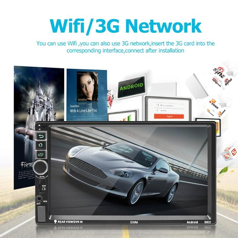 SWM 8802 2Din Android 7.1 Car Stereo MP5 Player GPS Navi RDS FM AM Radio Bluetooth Remote Control Reset Button Function SWM 8802 2Din Android 7.1 Car Stereo MP5 Player GPS Navi RDS FM AM Radio Bluetooth Remote Control Reset Button Function