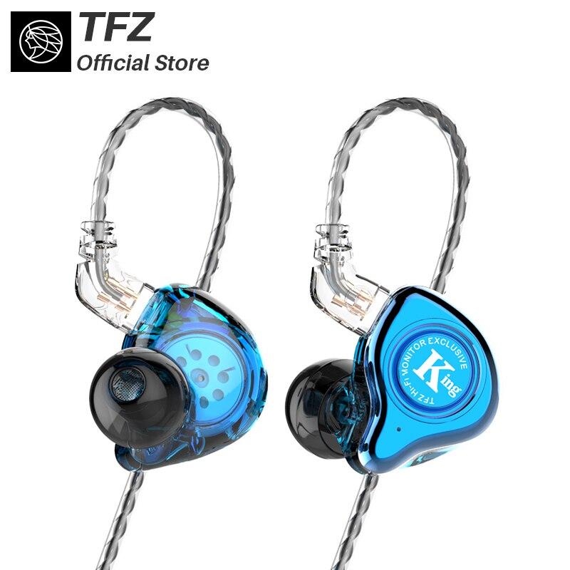 La cithare parfumée TFZ KING Version améliorée 3.5mm dans l'oreille dynamique HIFI moniteur sport écouteurs basse DJ musique métal casque