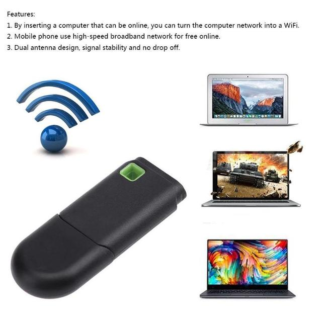 USB 300M Mini WiFi Repeater Wireless Amplifier Network Router Expander Signal Booster for Mobile Phone Tablet PC Computer 2