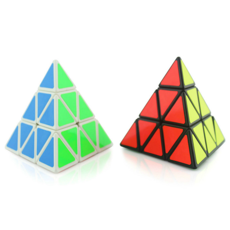 New Black White 3*3*3 Pyramid Speed Magic Cube 98*98*98mm Professional Magic Cube Puzzles Colorful Educational Toys For Children